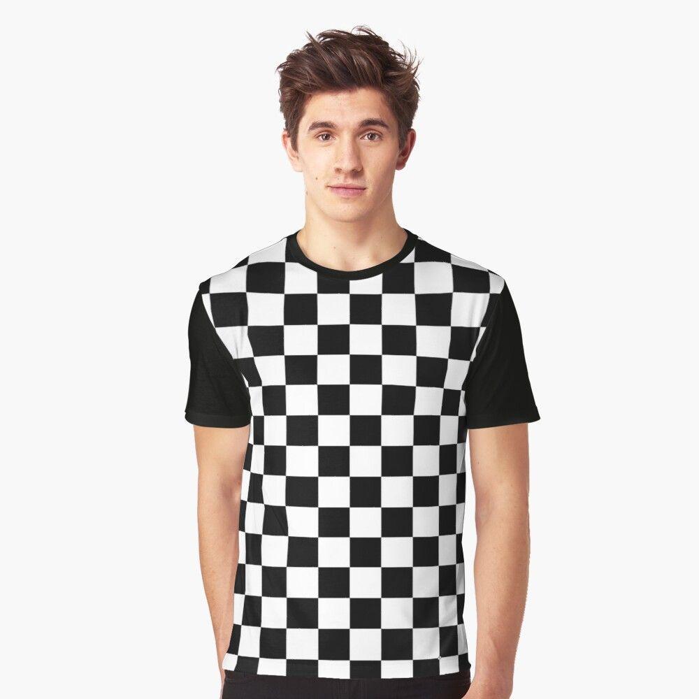 Black And White Checkered T Shirt