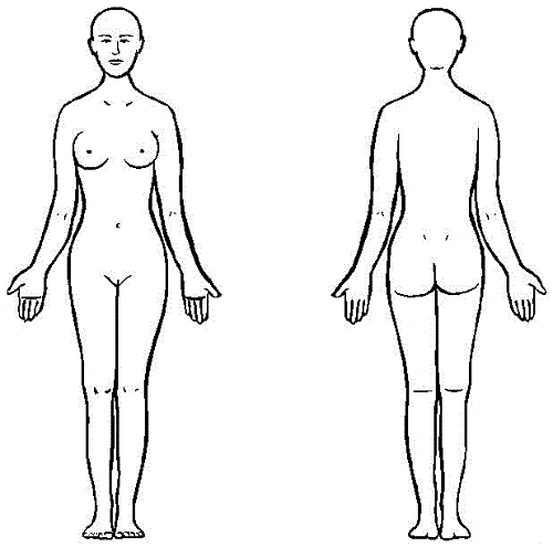 Female Body Outline Costume Design Bodies And