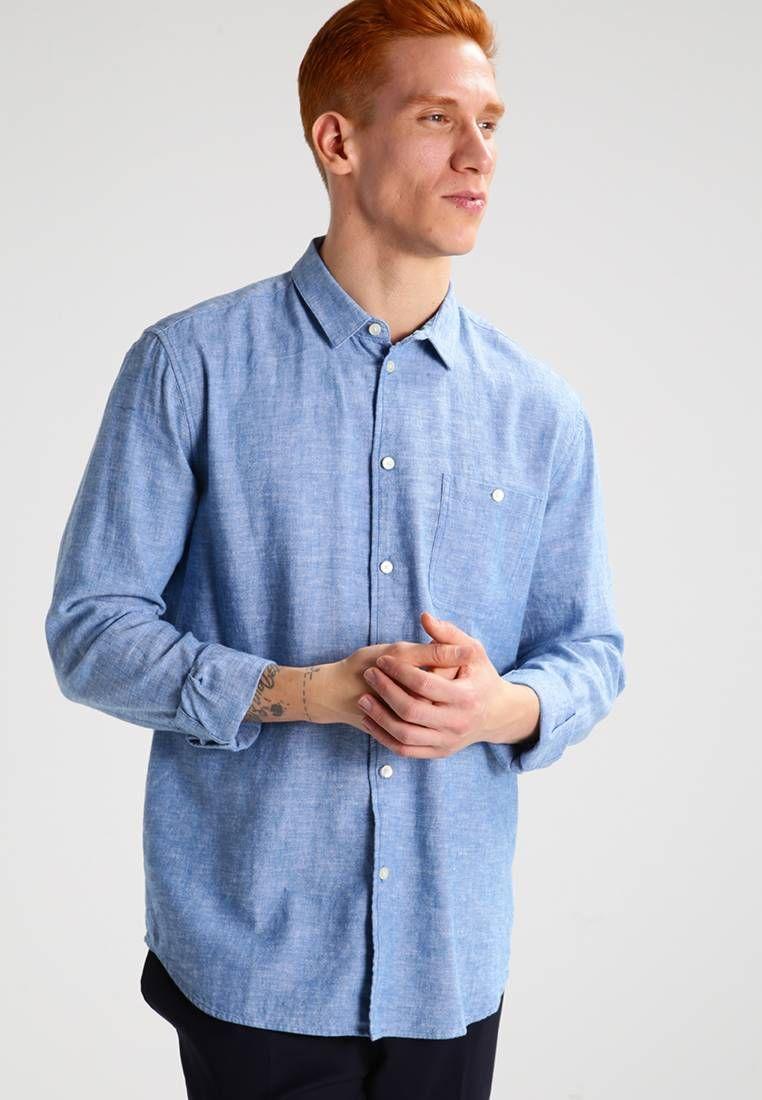 Samsøe & Samsøe. LIAM - Skjorte - vallarta blue. Ermelengde:Langermet,68 cm i størrelse L. Lengde:normal lengde. Totallengde:82 cm i størrelse L. Overmateriale:55% bomull, 45% lin. Mønster:melert. Passform:normal. Modellhøyde:Modellen er 183 cm h...