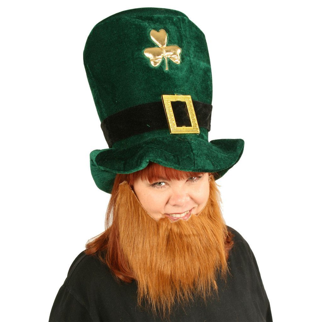 Plush Leprechaun Hat with Beard  86496fba89b