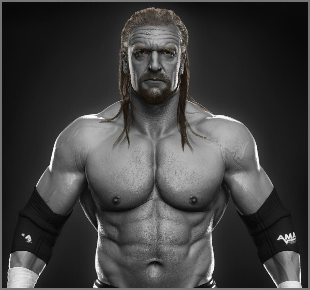 Artstation Triple H Done For Wwe Hossein Diba Triple H Wwe Wrestling Superstars