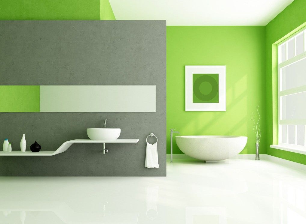 17 Most Impressive Colorful Bathroom Ideas For All Who Think Outside The Box Green Bathroom Interior Green Bathroom Lime Green Bathrooms