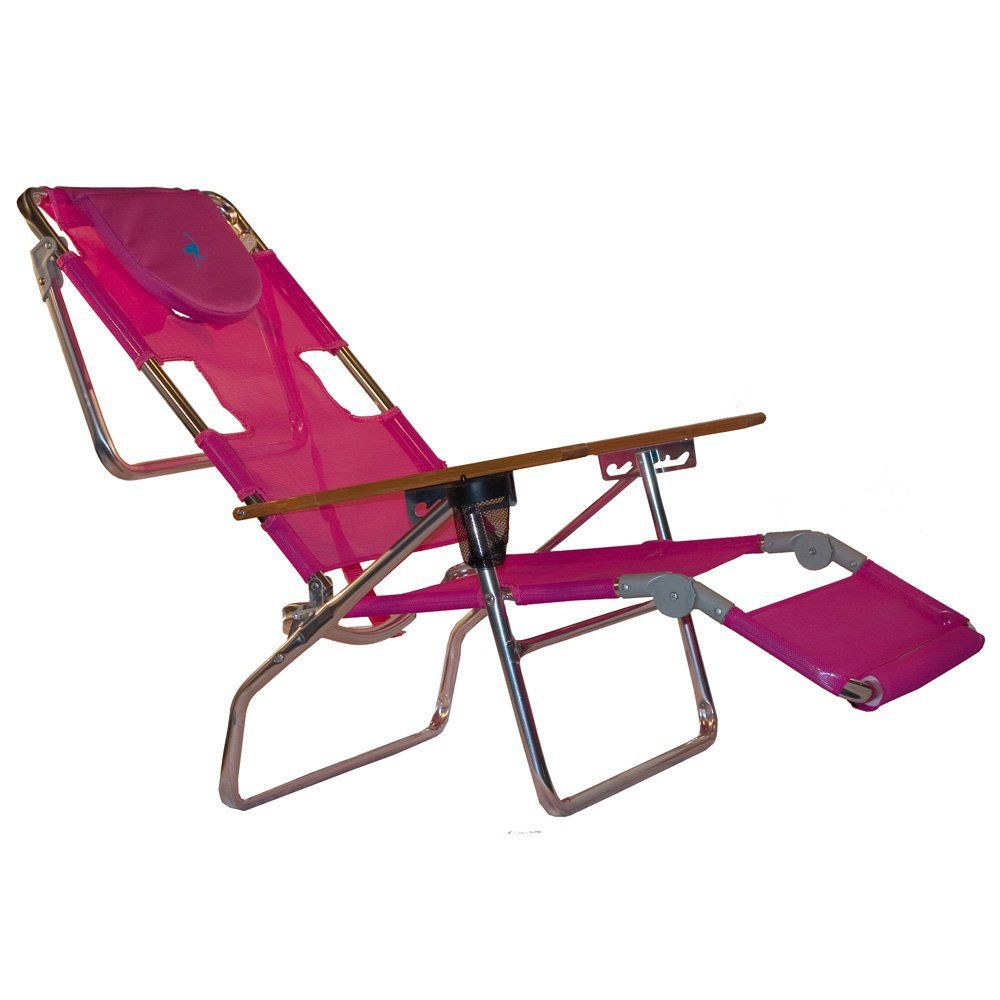 Ostrich 3 In 1 Patio Chaise Lounge Chair Pink
