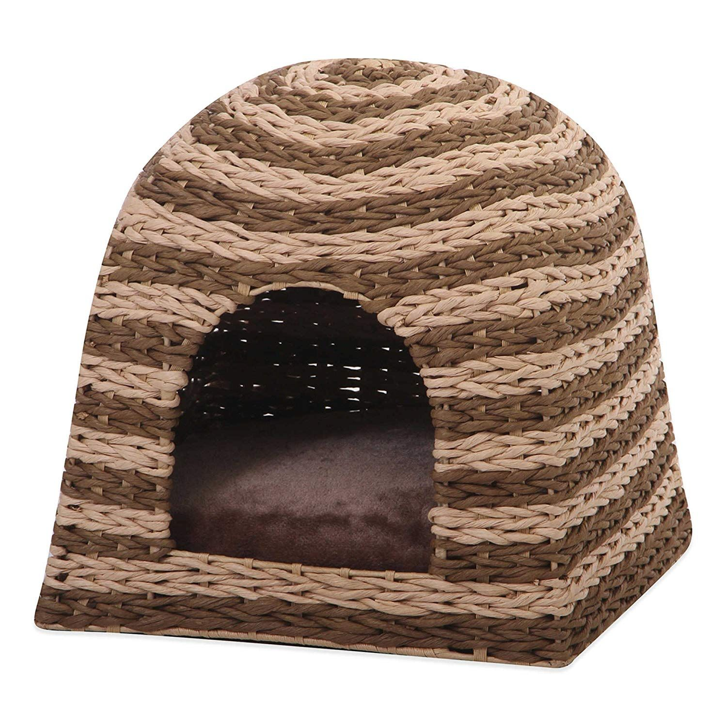 Pet Pals Banana Leaf Cat Cabana in Brown *** Be sure to