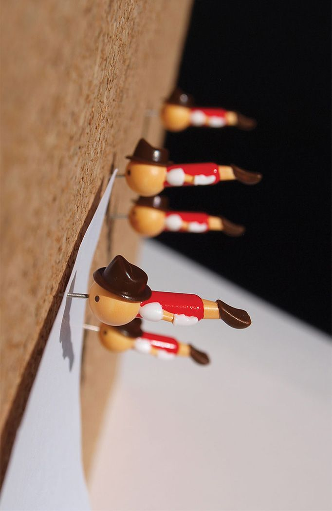"""""""real boys"""" push pins, inspired by Pinocchio / by Duncan Shotton"""