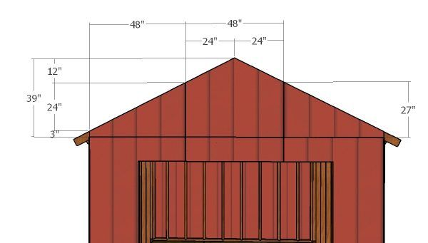 12 12 Shed With Garage Door Roof Plans Diy Shed Roof Plan Woodworking Plans Free