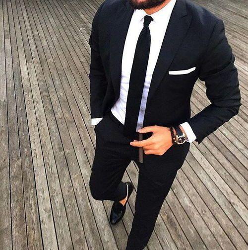 Classic Slim Black Suit fashion suit mens fashion fashion and style fashion  for men slim suit 85edfeec5726