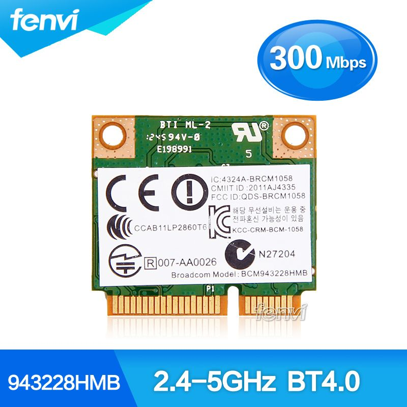 For HP Laptop Wireless-N 300Mbps Wifi Bluetooth Half MINI pci-e Card