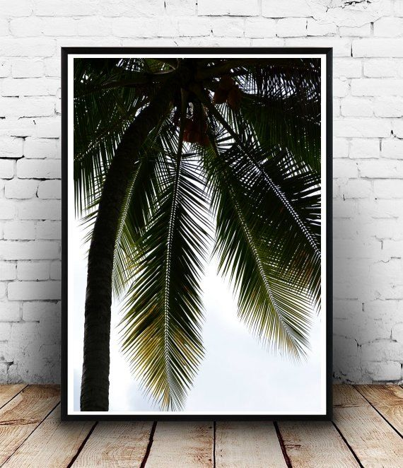 Tropical Art, Palm Tree, Printable Art, Palm Tree Wall Art, Minimalist  Poster, Wall Decor, Digital Download, Wall Art