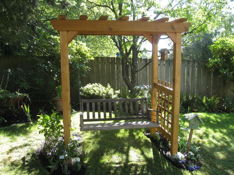 bench with built in arbor bench swing arbor my mom has