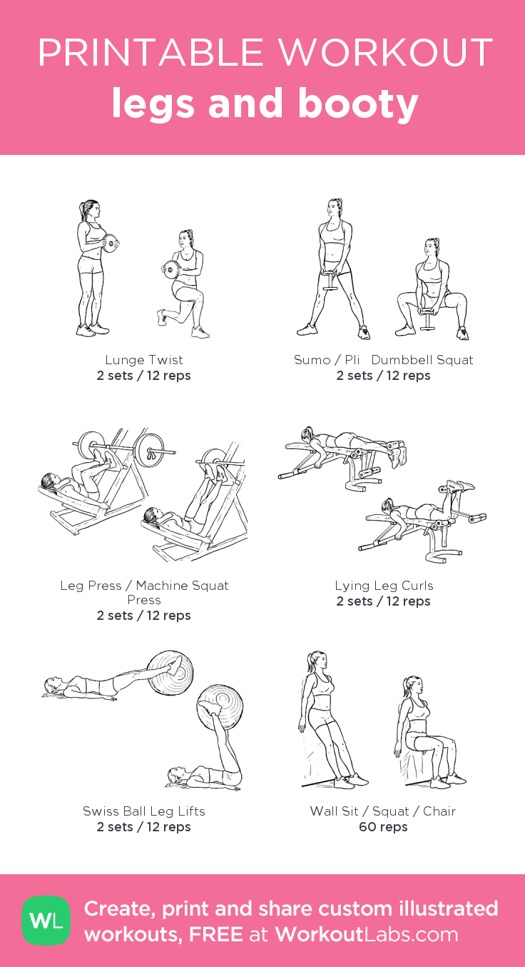 legs and booty · Free workout by WorkoutLabs Fit