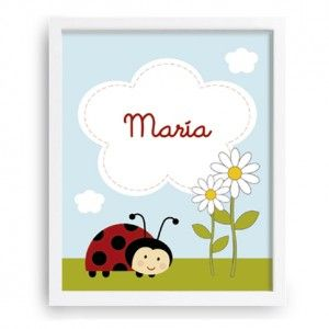 Mariquita - Decoración Infantil - www.babyprint.es