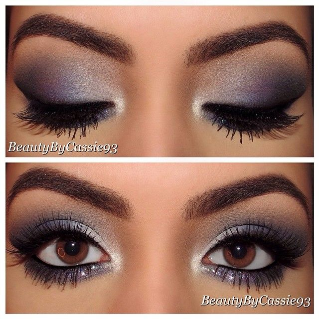 Blue Smokey Eye Prom Makeup For Brown