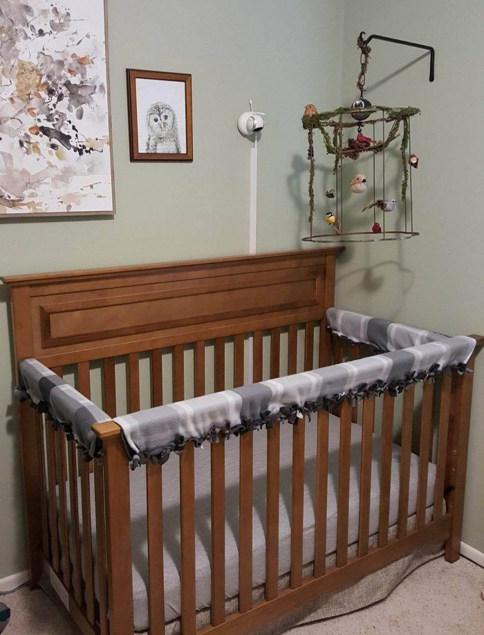 Baby Crib Rail Cover DIY: No-Sew Instructions with ...