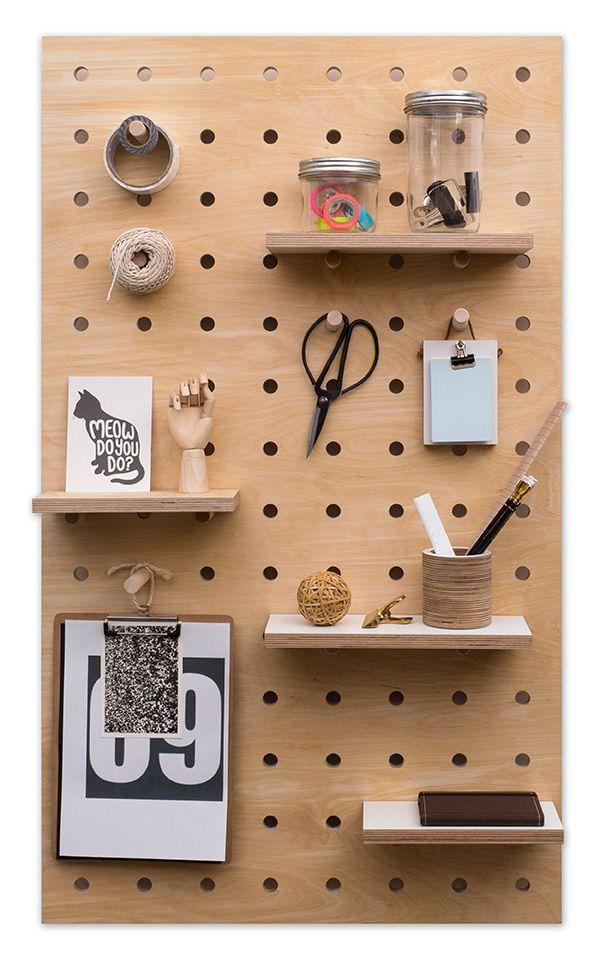 Giveaway 04 kreis design midi pegboard shelves for Office display board