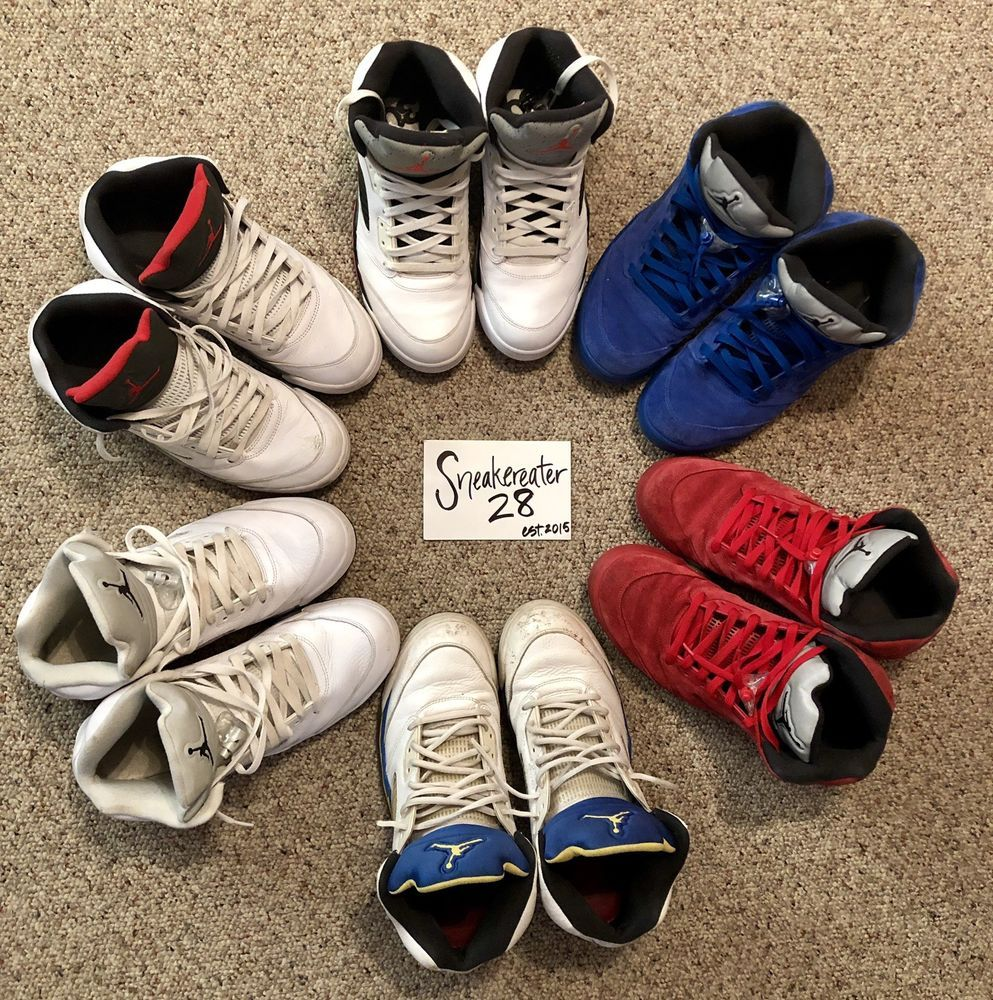 0c1ebe6f37e3 eBay  Sponsored Air Jordan V 5 Retro Beater Box Mixed Lot Size 12   13