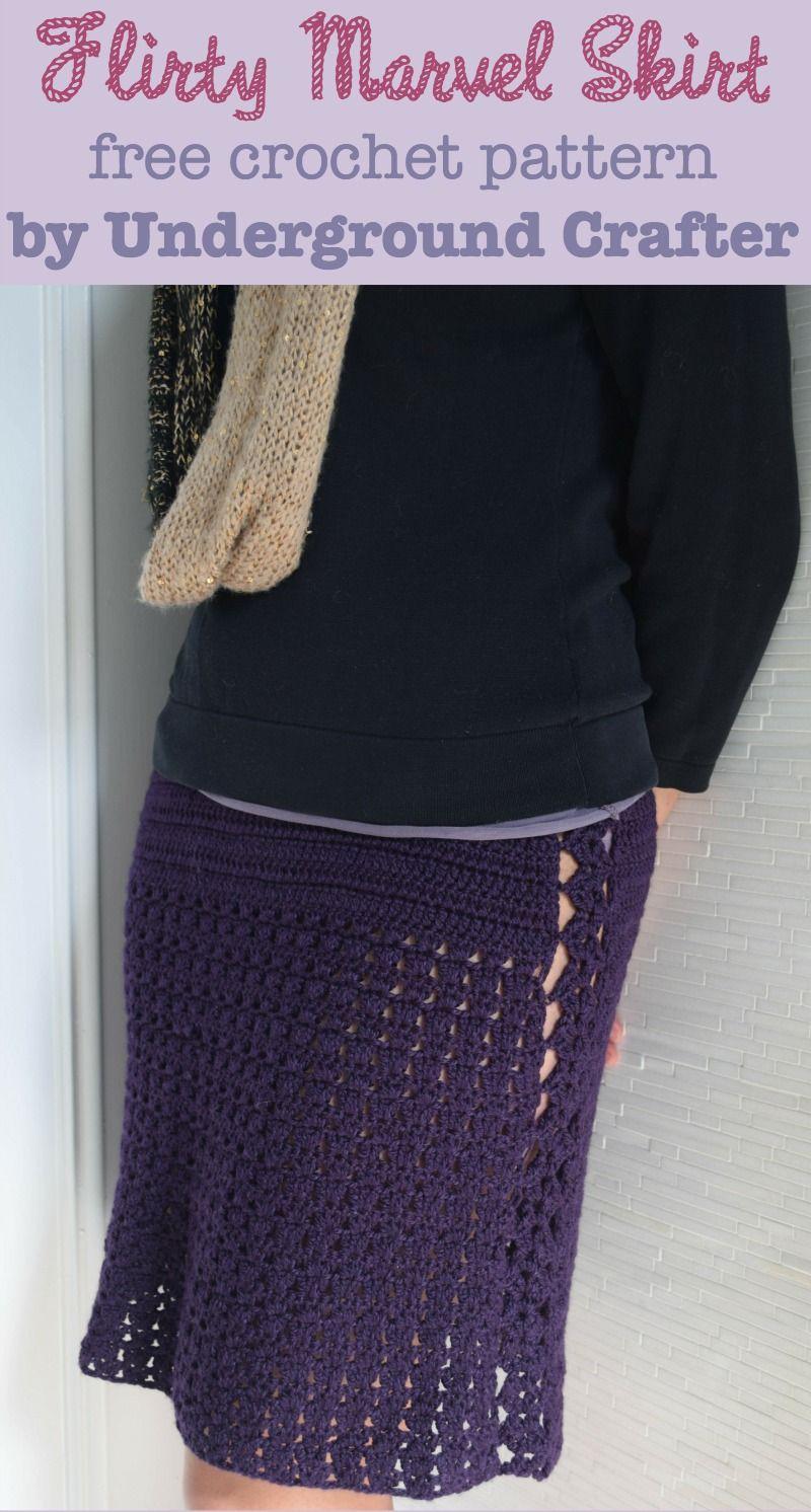 Crochet Pattern: Flirty Marvel Skirt in 4 Sizes