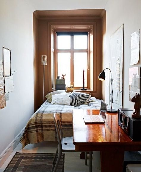 Ok Maybe Not This Small But Yeah Design Dozen 12 Clever E Saving Solutions For Bedrooms A Deep Window Sill Can Do Nightstand Duty In Narrow