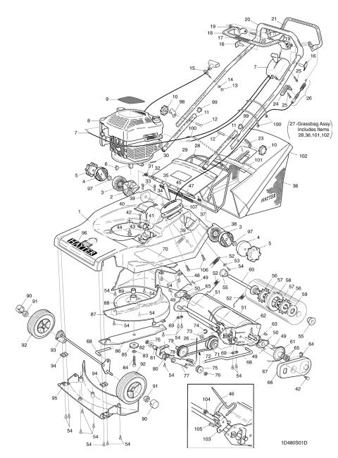 Hayter Harrier 48 480s001001 Spares And Spare Parts Harrier Spare Parts Diagram