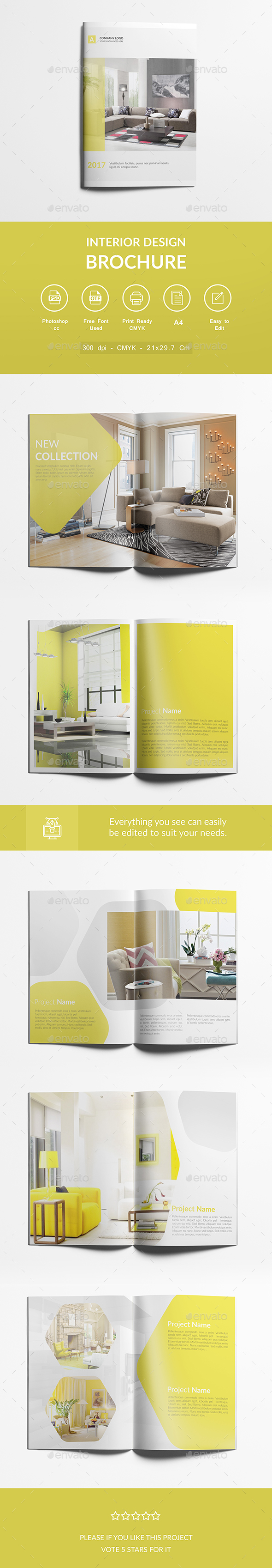 Interior Design Brochure A4 Design Template - Corporate Brochures ...