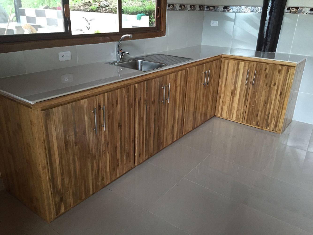Mueble de cocina en bambú | Bambú | Pinterest | Bambú, Muebles de ...