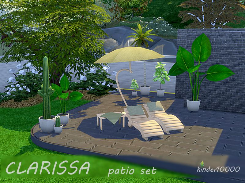 Clarissa patio set- Found in TSR Category \u0027Sims 4 Downloads