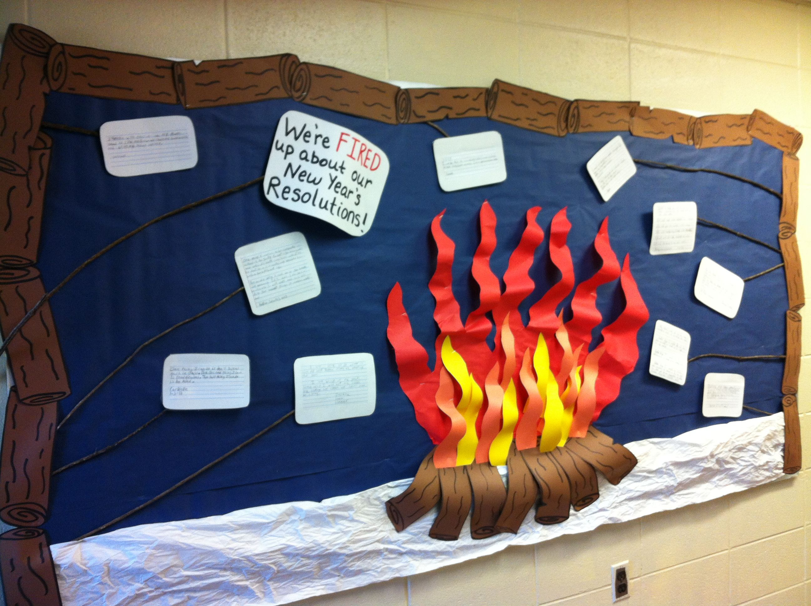 Classroom Ideas For New Years : A writing bulletin board on new year s resolutions my