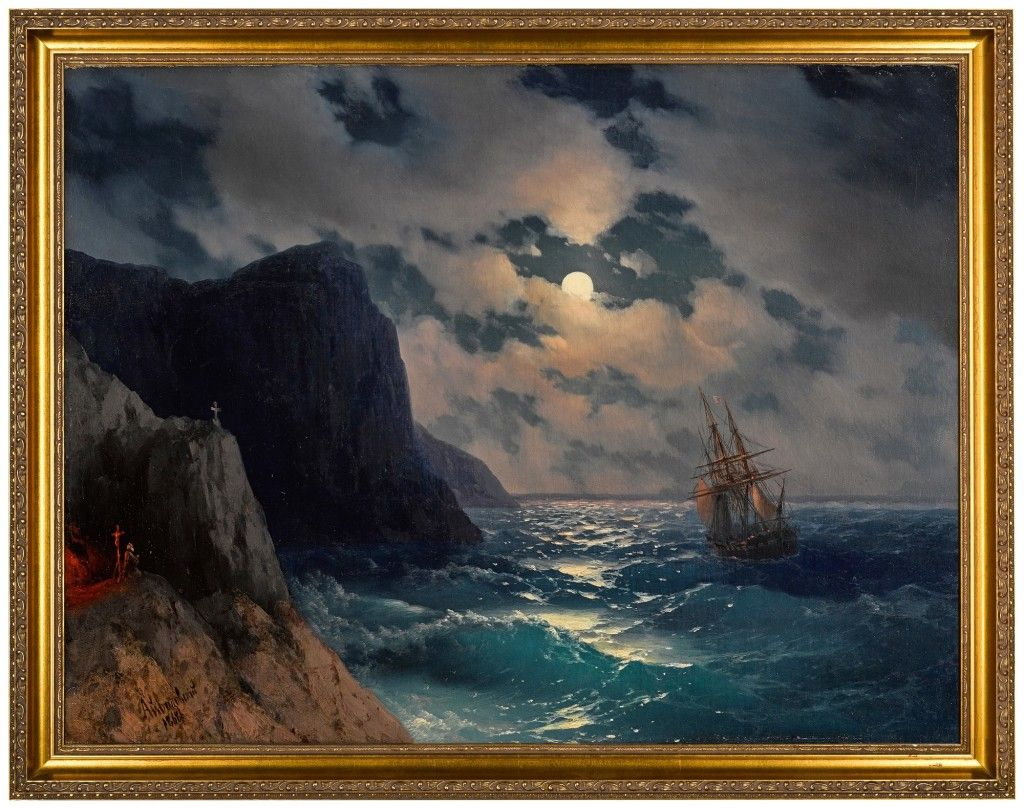 IVAN KONSTANTINOVICH AIVAZOVSKY | PASSING SHIP ON A MOONLIT NIGHT | Russian Pictures 2020 | Sotheby's