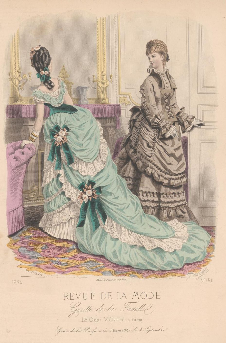 revue de la mode 1874 fashion plate pinterest revue gravures de mode et gravure. Black Bedroom Furniture Sets. Home Design Ideas