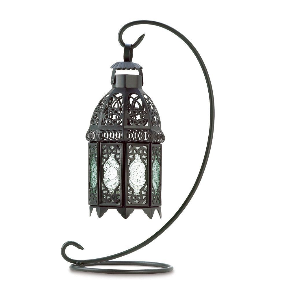 Gifts and decor moroccan tabletop lantern ornate metal candle holder