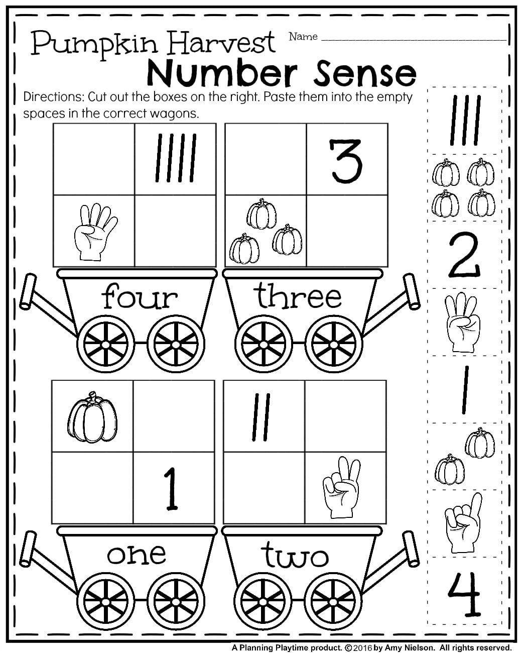 October Preschool Worksheets Math Preescolar Actividades