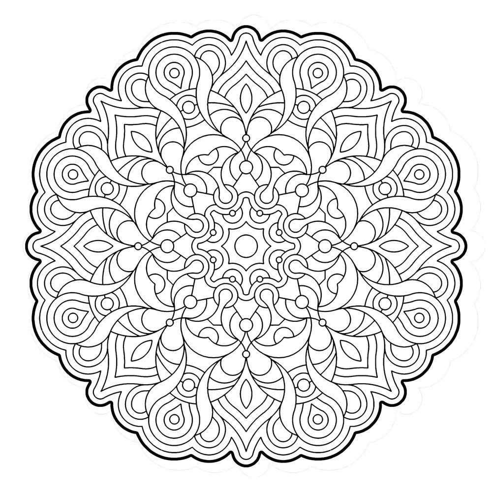 mandala dificil para colorear   Mandalas   Pinterest   Dificiles ...
