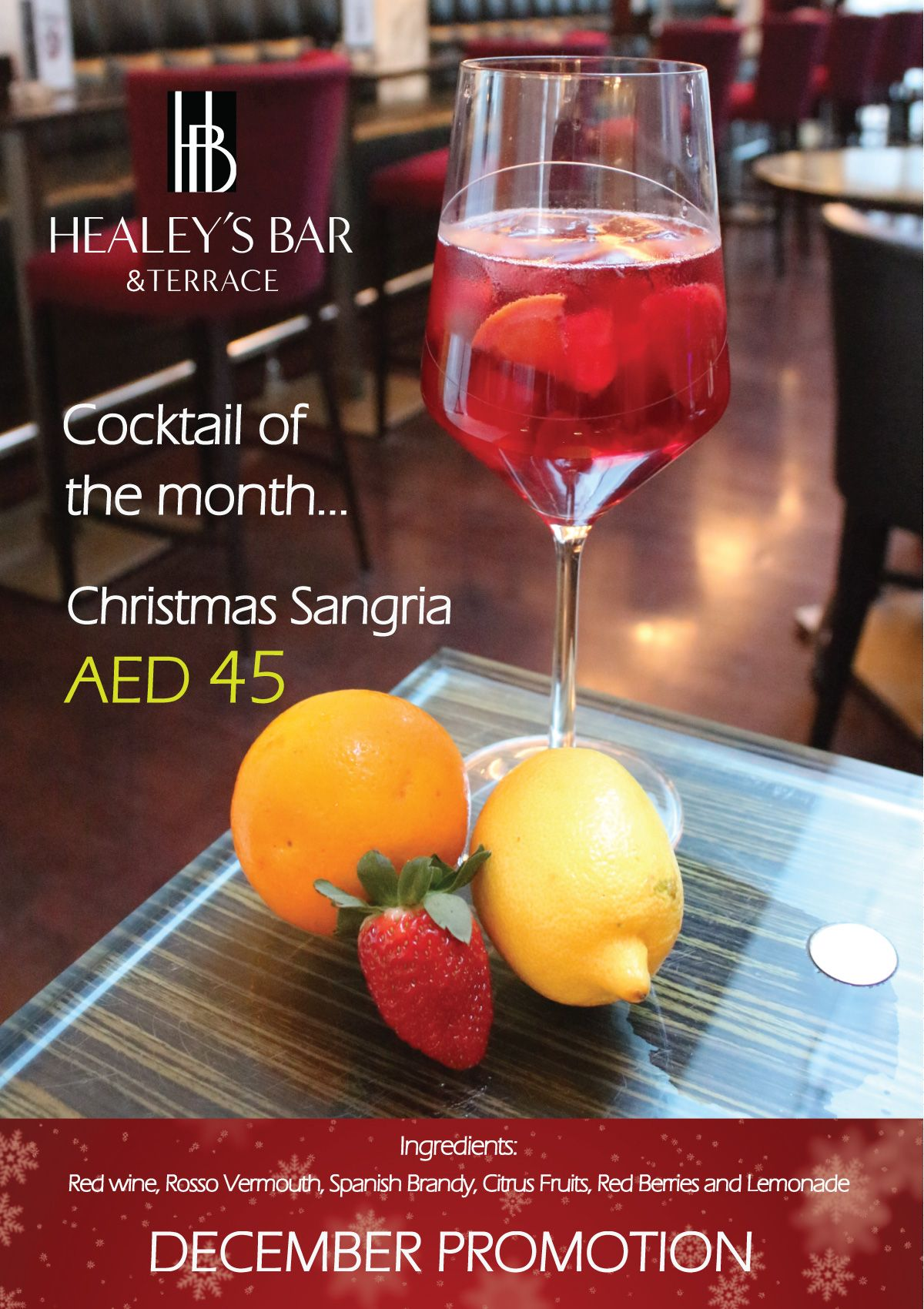 Celebrate This Christmas At Healey S Bar With This Special Christmas Sangria Christmas Sangria Sangria Citrus Fruit