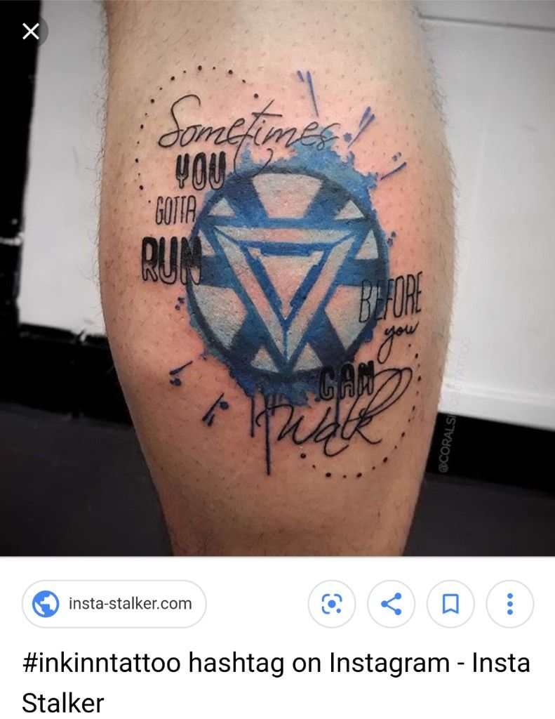 Arc reactor idea but different quotes | Marvel tattoos ...