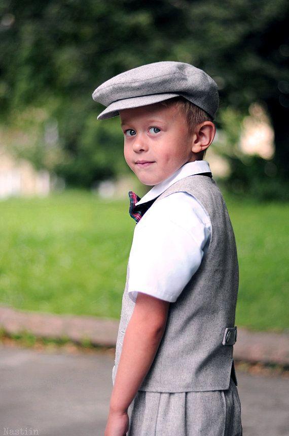 1cc2223ed Toddler boy hat Gray newsboy cap Infant hat driver cap Ring bearer hat Flat  hat boy 1st birthday photo prop Baby shower gift boy grey hat
