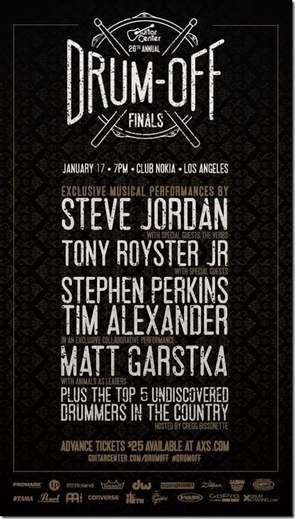 Club Nokia Tickets Hosted By Gregg Bissonette Tim Alexander And Stephen Perkins Tony Royster Steve Jordan And The Steve Jordan Stephen Perkins Guitar Center
