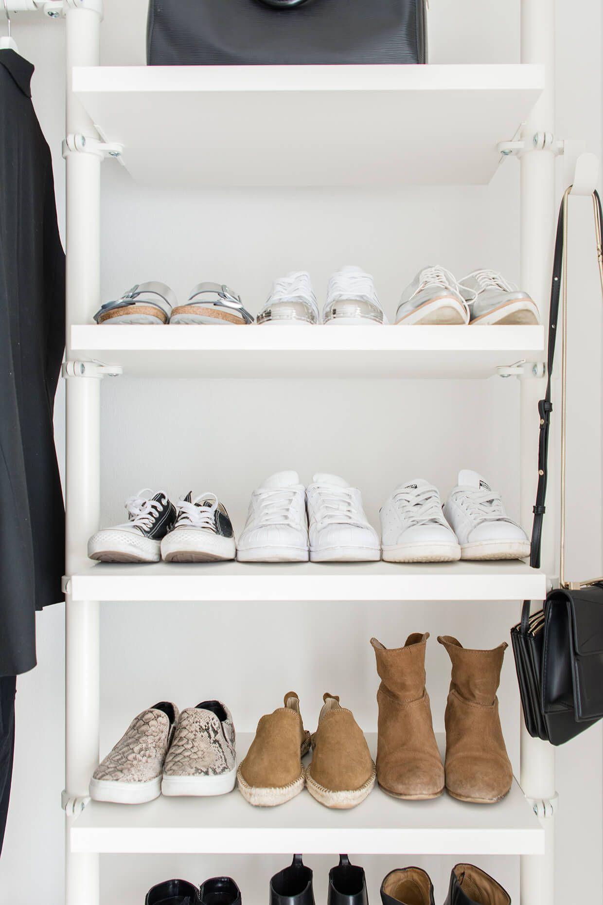 walk in closet dressing room IKEA Stolmen Ankleidezimmer Zara Mango