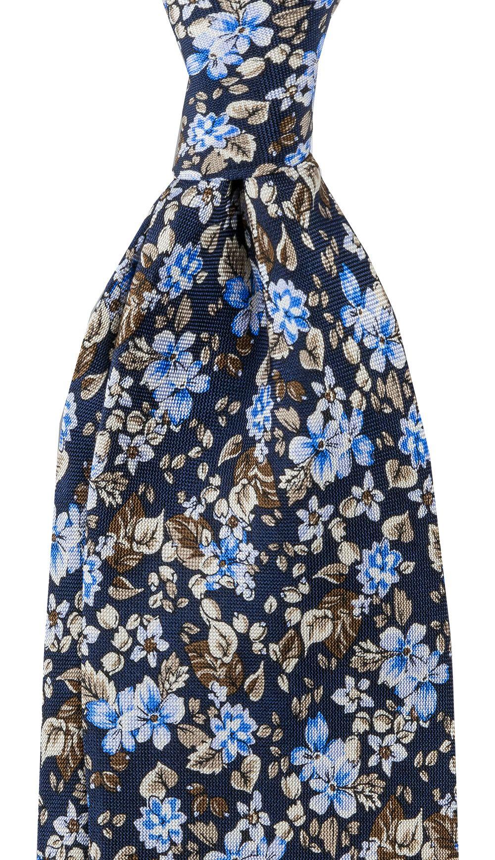Slips Floral 8 cm | Navy Blue - Køb online | Neckwear.dk