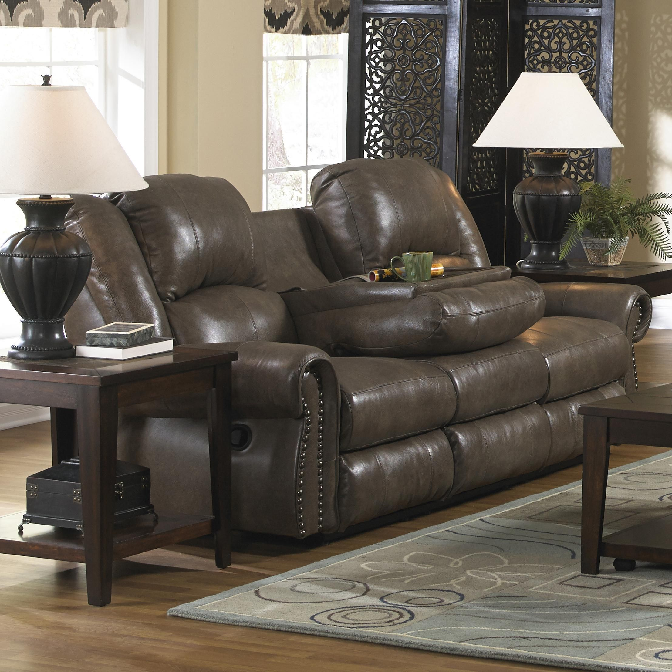 Livingston Power Reclining Sofa With Drop Down Table By Catnapper