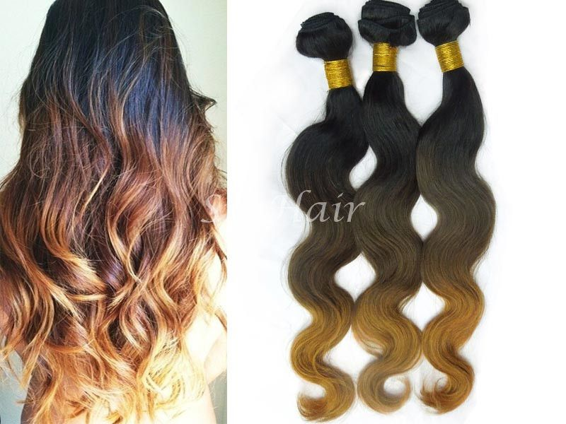 Ombre Remy Human Hair 1B/4/30 Body Wave Ombre hair