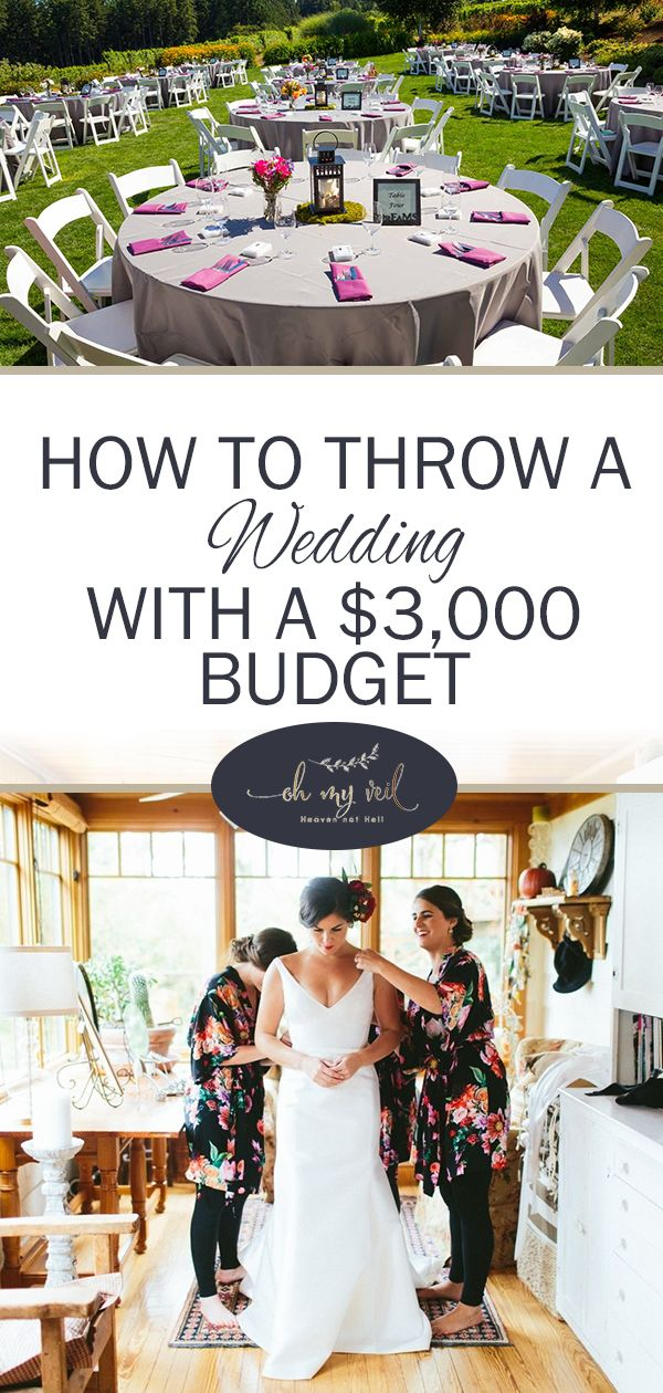 How To Throw A Wedding With 3 000 Budget Day Pinterest Receptions Diy And Reception
