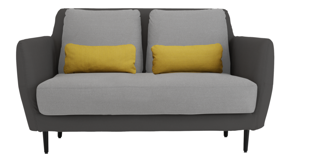 Ella 2-Sitzer-Sofa aus Stoff | 2 sitzer sofa, Sofa stoff ...