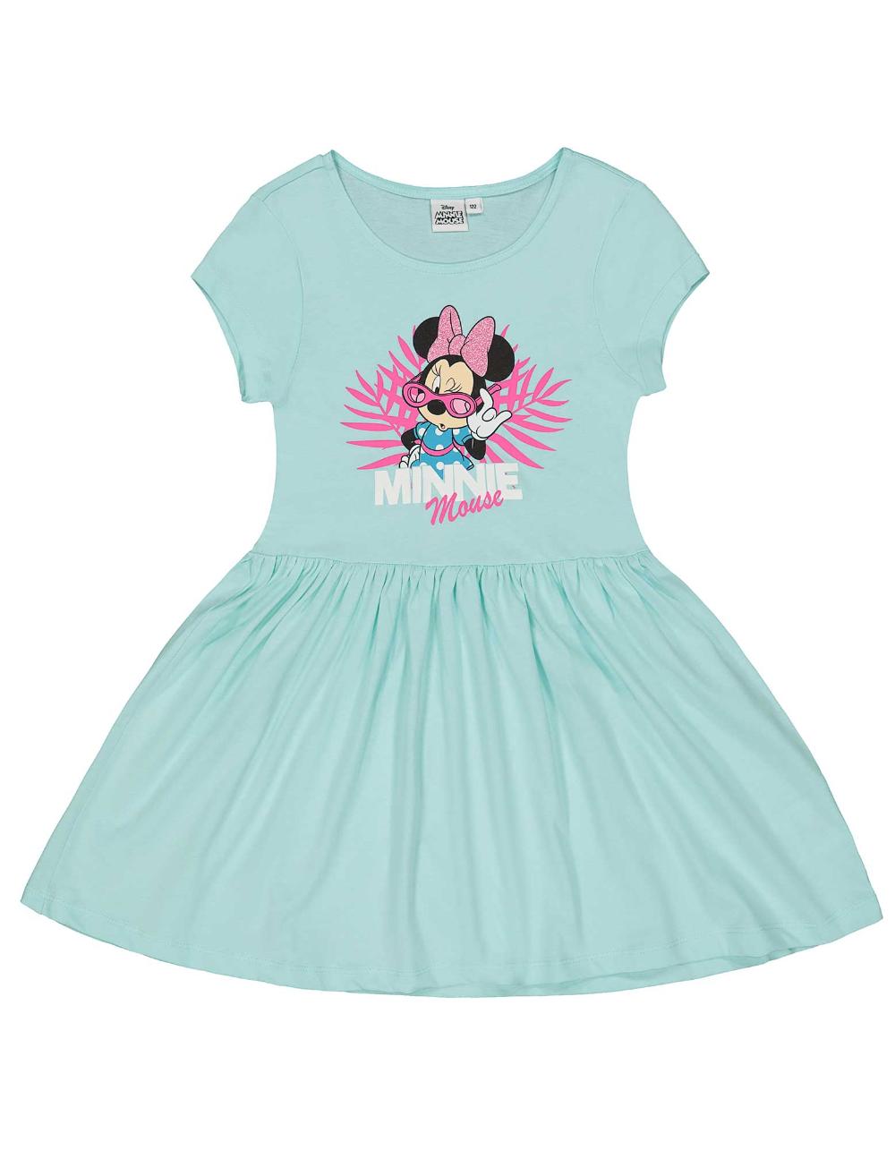 Character Mädchen 2-teiliger Bekleidungsset Baby Midikleid Socken Minnie Spots
