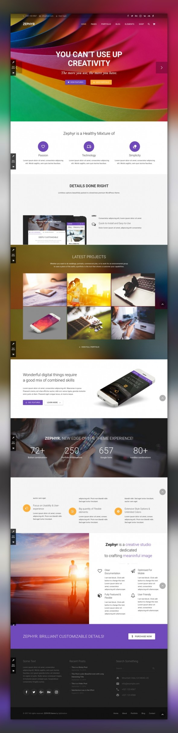 Zephyr | Material Design Theme blog, business, clean, corporate ...