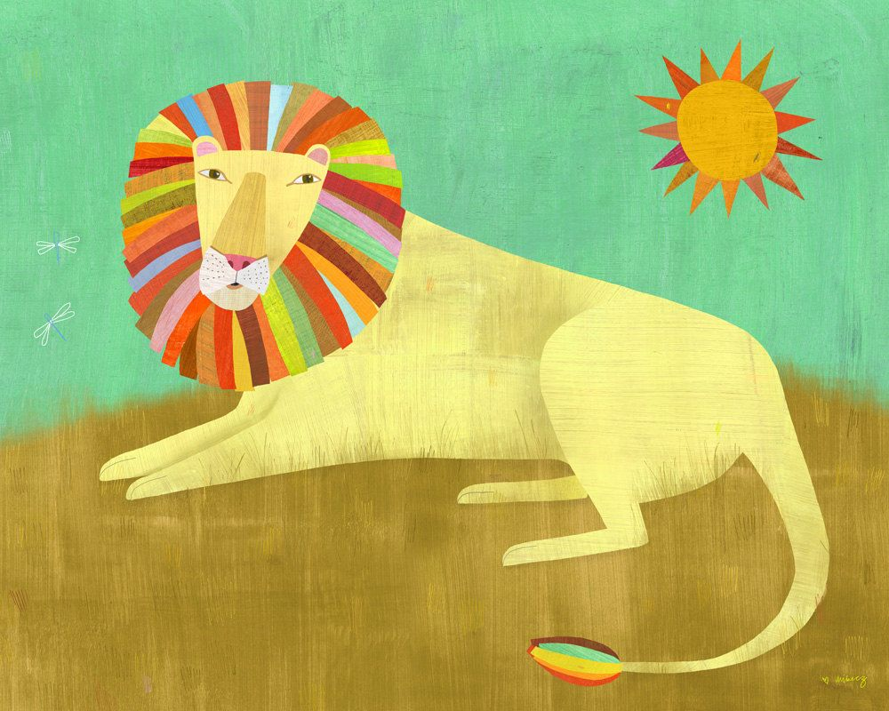Lounging Lion 8x10 Print by twoems on Etsy. $26.00 | Creative art ...