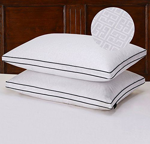 Basic Beyond Greek Key Patterns Gusseted Triple Compartment 650 Fill Power Egyptian Cotton King Goose Down Pil Goose Down Pillows Bed Pillows Greek Key Pattern