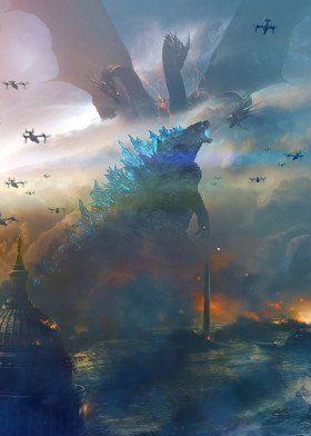 'Godzilla' Poster Print by TraXim Design | Displate
