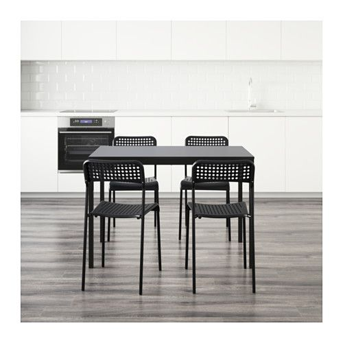 Tarendo Adde Table And 4 Chairs Black 43 1 4 リビング