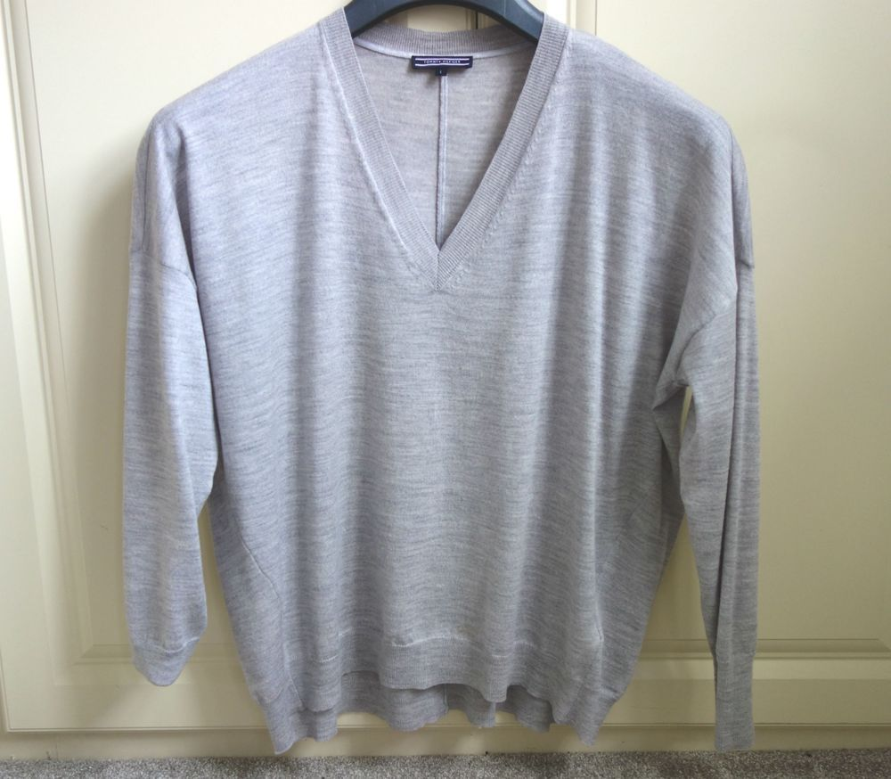 51a25e37 LADIES TOMMY HILFIGER SILVER LIGHT GREY JUMPER SIZE L UK SIZE 16 #fashion # clothing #shoes #accessories #womensclothing #sweaters (ebay link)