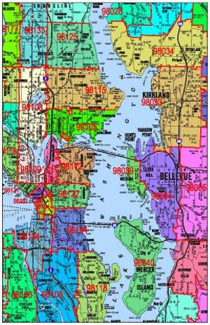Seattle Zip Code Map | Fascinating Maps and Infographics | Zip code on